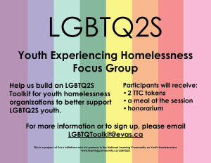 Youth Focus Group OUTreach poster